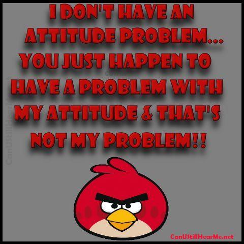 Attitude- Problem