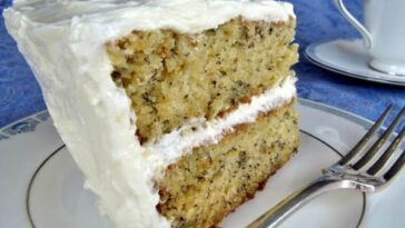 Banana- Cake -with- Buttercream-- Frosting
