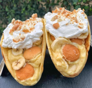 Banana- Pudding- Tacos