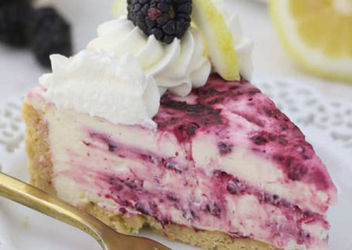 No-Bake- Blackberry- Lemon- Cheesecake