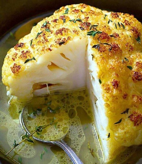 Roasted- Cauliflower -With- Butter -Sauce